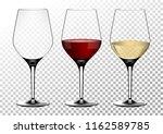 set transparent vector wine... | Shutterstock .eps vector #1162589785