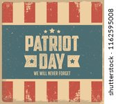 patriot day poster | Shutterstock .eps vector #1162595008