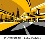 highway overpass road bridges... | Shutterstock . vector #1162603288