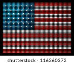 USA dotted led flag illustration. - stock photo