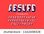 impossible shape font design ... | Shutterstock .eps vector #1162608328
