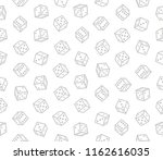 gambling dices seamless pattern ... | Shutterstock .eps vector #1162616035