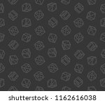 gambling dices seamless pattern ... | Shutterstock .eps vector #1162616038