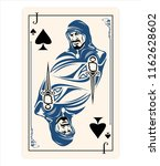 spades jack playing card game... | Shutterstock .eps vector #1162628602