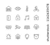 set of smart house icons. for... | Shutterstock .eps vector #1162635478