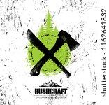 bushcraft outdoor survival... | Shutterstock .eps vector #1162641832