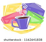 vector illustration of cup of... | Shutterstock .eps vector #1162641838