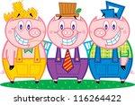 three pigs | Shutterstock .eps vector #116264422