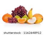 fruit isolated on white...   Shutterstock . vector #1162648912
