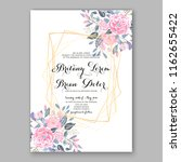 wedding invitation card with... | Shutterstock .eps vector #1162655422