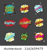 comic speech bubbles set with... | Shutterstock .eps vector #1162659475
