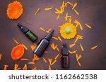 marigold or calendula essential ... | Shutterstock . vector #1162662538