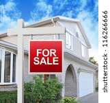 a home is advertising a for... | Shutterstock . vector #116266666