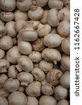 fresh champignons  lying...   Shutterstock . vector #1162667428