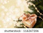 Christmas greeting card - stock photo