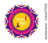 celebrate navratri festival... | Shutterstock .eps vector #1162677055