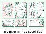 floral wedding invite with... | Shutterstock .eps vector #1162686598