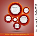 abstract web design bubble ... | Shutterstock .eps vector #116268712