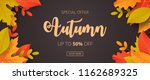autumn sale background with... | Shutterstock .eps vector #1162689325