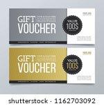 gift voucher with geometric... | Shutterstock .eps vector #1162703092
