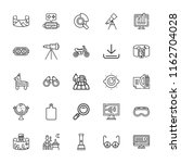 collection of 25 view outline... | Shutterstock .eps vector #1162704028