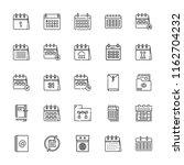 collection of 25 binder outline ... | Shutterstock .eps vector #1162704232