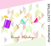 coctail summer holiday vector... | Shutterstock .eps vector #1162707568