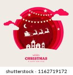 merry christmas and happy new... | Shutterstock .eps vector #1162719172