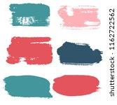 brush strokes vector set... | Shutterstock .eps vector #1162722562