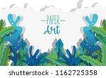 paper art undersea | Shutterstock .eps vector #1162725358