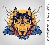 fox tattoo vector logo icon... | Shutterstock .eps vector #1162725442