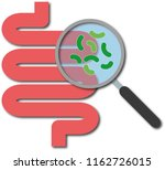 magnifying glass focused on the ... | Shutterstock .eps vector #1162726015