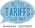 tariffs word cloud on a white...   Shutterstock .eps vector #1162736035