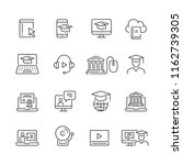 online education related icons  ... | Shutterstock .eps vector #1162739305