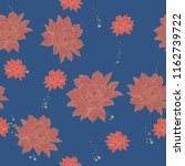 elegance pattern with flowers... | Shutterstock .eps vector #1162739722