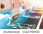 embroidery industrial machine... | Shutterstock . vector #1162740532