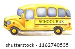 Yellow Watercolor School Bus...