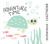 hand drawn turtle face with... | Shutterstock .eps vector #1162746568