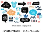 baby shower photo booth props.... | Shutterstock .eps vector #1162763632