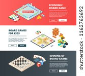 Banners Of Board Games. Vector...