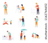 fathers taking care of their... | Shutterstock .eps vector #1162764652