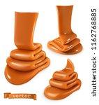 caramel 3d vector | Shutterstock .eps vector #1162768885
