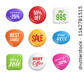 sale badges. labels of best... | Shutterstock .eps vector #1162781515