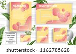 abstract background template... | Shutterstock .eps vector #1162785628