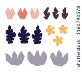 abstract cut shapes flowers and ... | Shutterstock .eps vector #1162790578