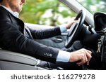man driving his car | Shutterstock . vector #116279278