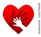 heart design with child and... | Shutterstock . vector #1162796608