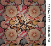 ethnic floral seamless pattern... | Shutterstock .eps vector #1162796932
