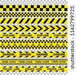black and yellow police stripe... | Shutterstock . vector #1162799725
