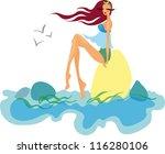 shopping girl   Shutterstock .eps vector #116280106